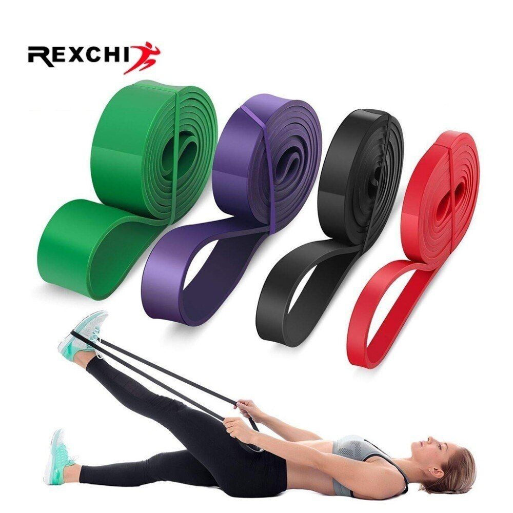 REXCHI Gym Fitness Resistance Bands Yoga Stretch Pull Up