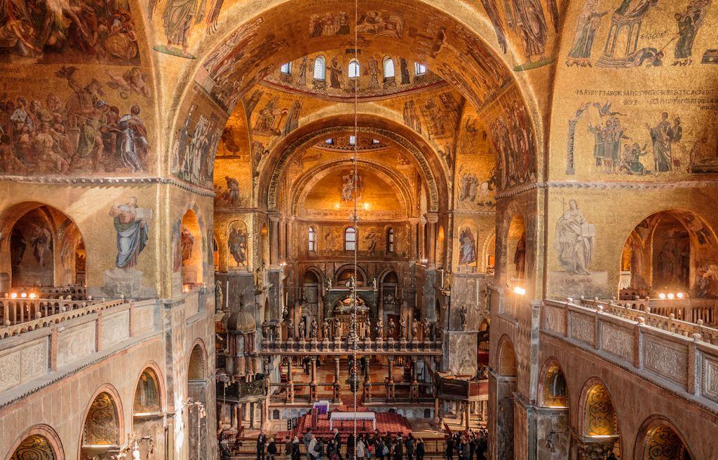 Pitture San Marco Interni.Basilica Di San Marco Interno 1063 Inizio Costruzione 1617