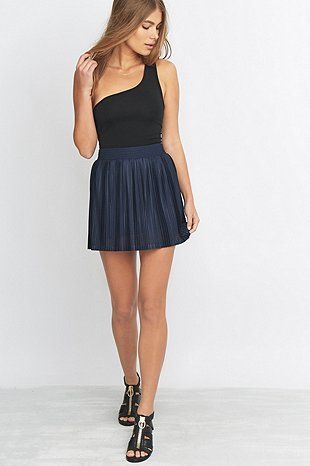 Light Before Dark One Shoulder Black Top - Urban Outfitters