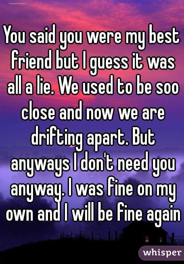 Friends Drifting Apart Quotes : friends, drifting, apart, quotes, Friend, Guess, Close, Broken, Friends, Quotes,