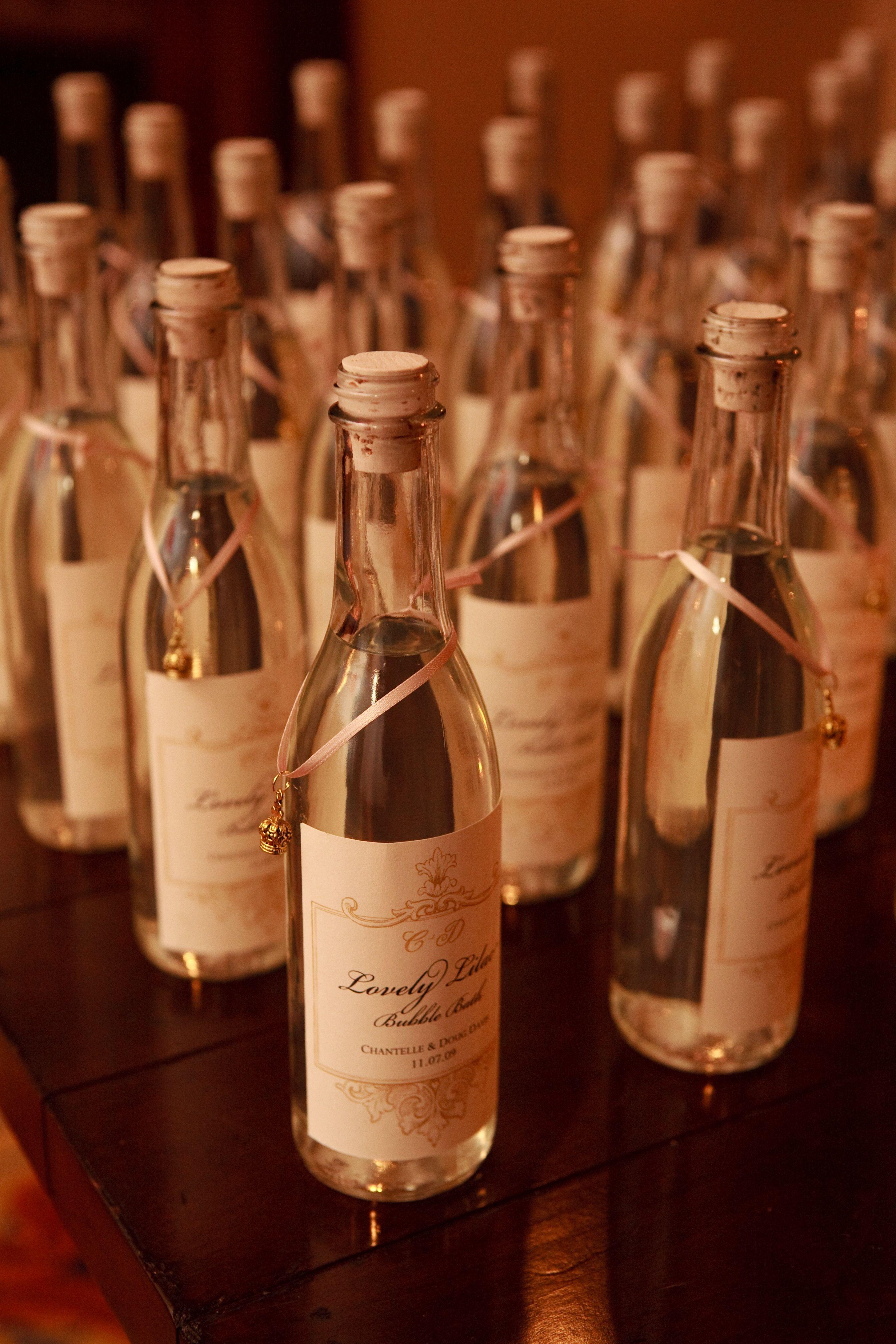 favors wine guests weddings pink winery bells prosecco weddingsandevents mini bottles