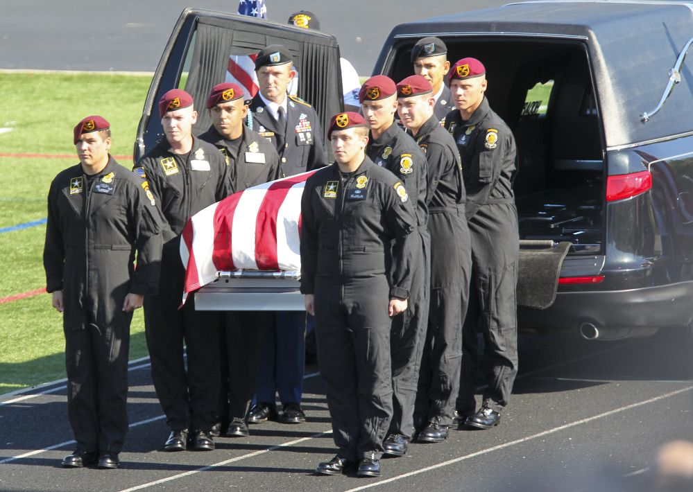 Skydivers at funeral honor Army Golden Knights parachutist killed in Chicago  air show accident | Chicago · High School ...