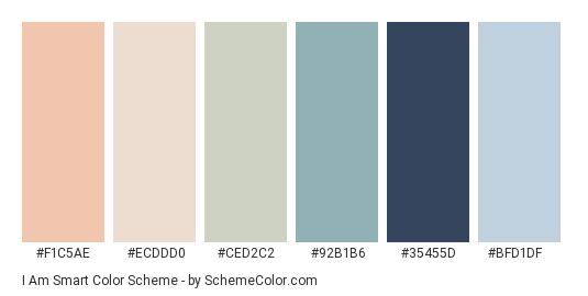 I Am Smart Color Scheme Blue Schemecolor Com Color Palette Pink Pastel Blue Color Blue Color Schemes