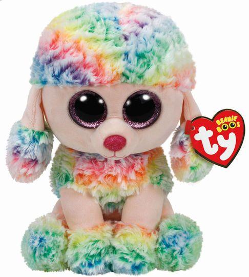 1ef6dedcf3b Ty Beanie Boos™ Rainbow Multicolored Poodle