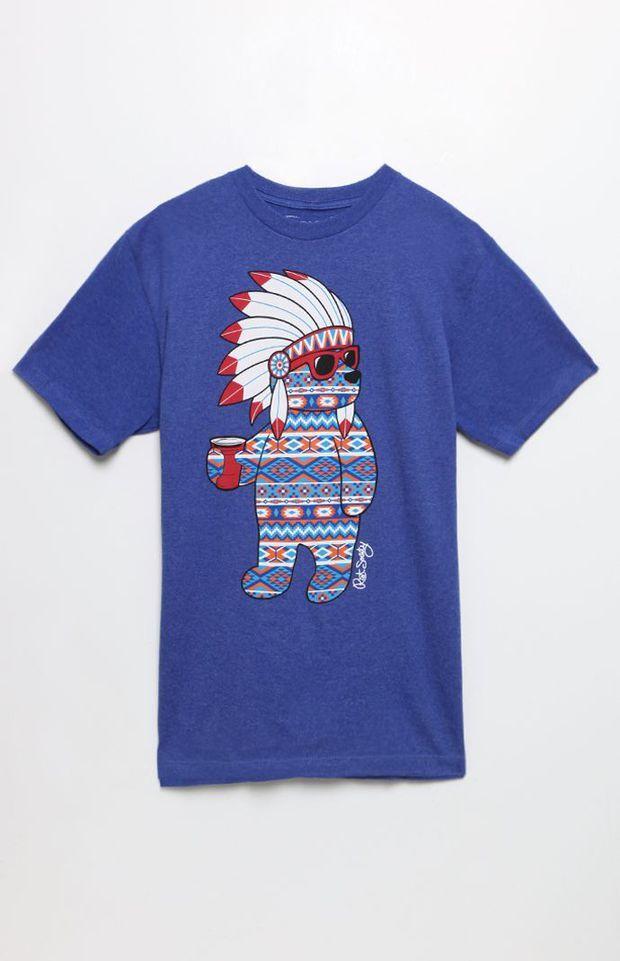 Riot Society Tropical Native Bear Mens T-Shirt