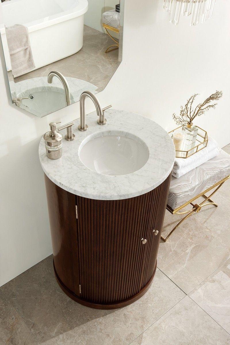 Canberra 24 Single Sink Round Bathroom Vanity Cabinet Warm