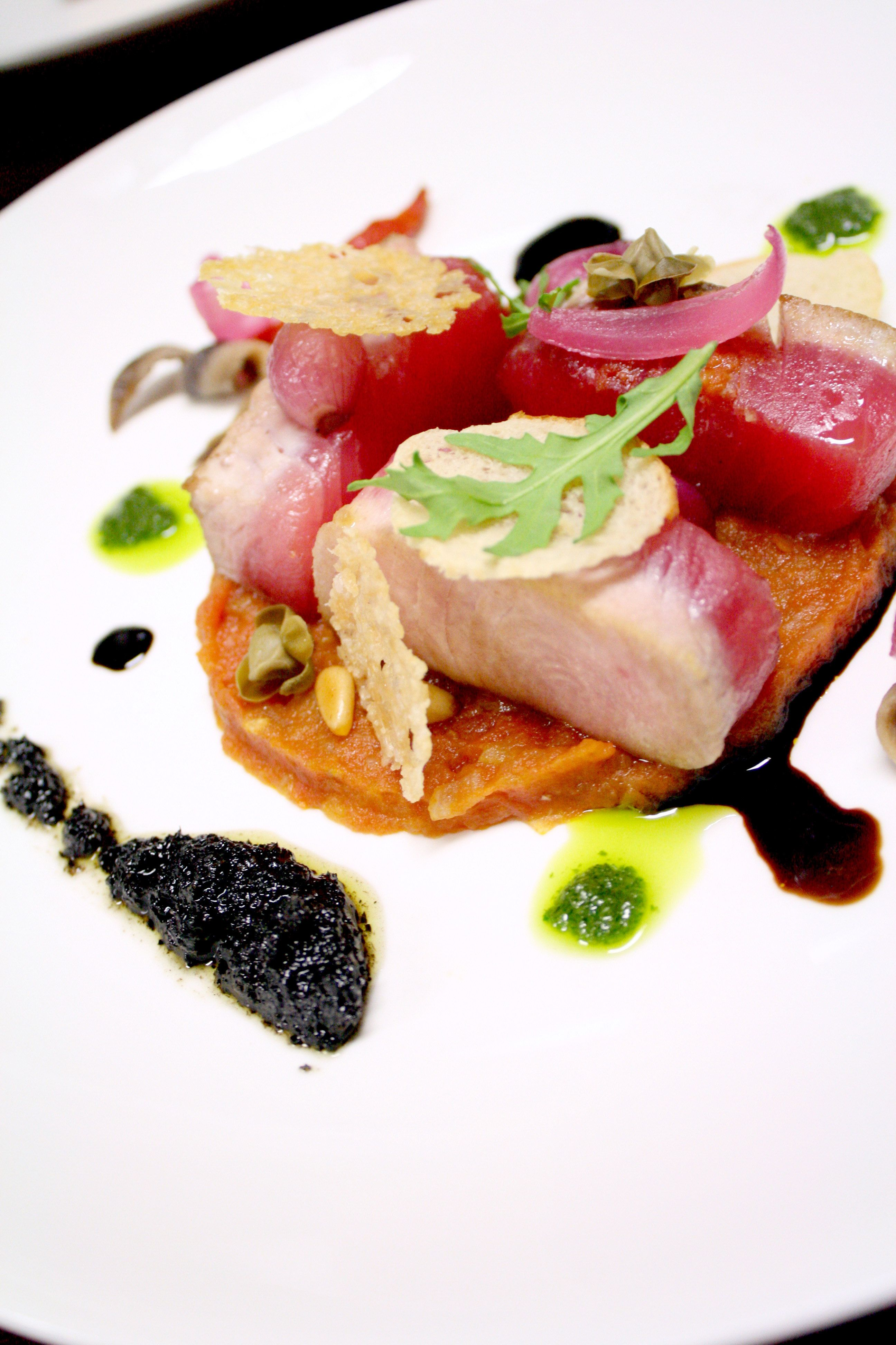 'Tuna Pizza' by Chef Nicolas Isnard. From the Michelin star event at Mandarin Oriental Hotel, Jakarta (March 2012).