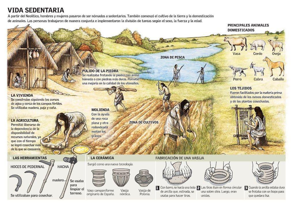 Representacion De Forma De Vida En El Neolitico Pleno Neolitico Historia De La Agricultura Prehistoria