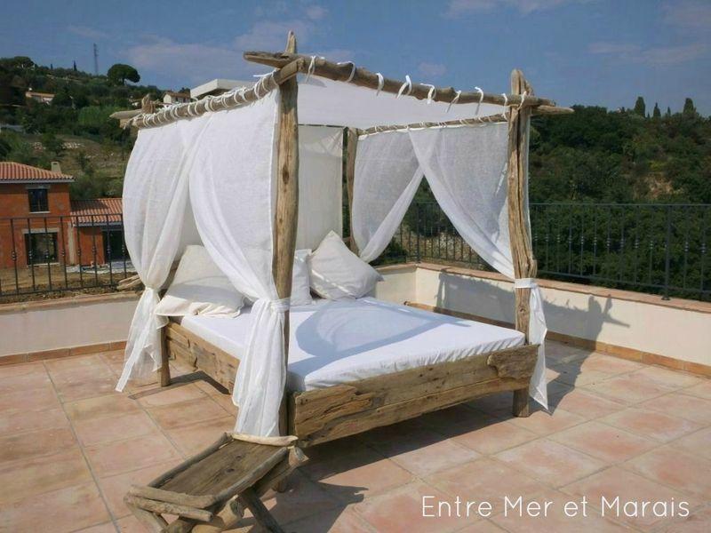 lit de jardin bois flotte 2a | Chambre en 2019 | Bed, Outdoor et ...