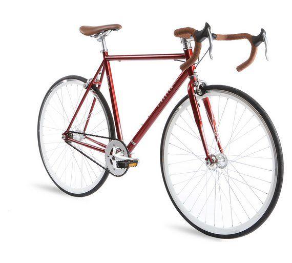 Kingston Hoxton Fixie 50cm Frame Road Bike Silver Fixie Bike