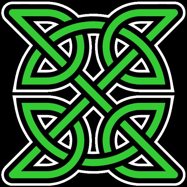 Shamrock Celtic Knot Celtic Knot Insquare Green Transparentbgg