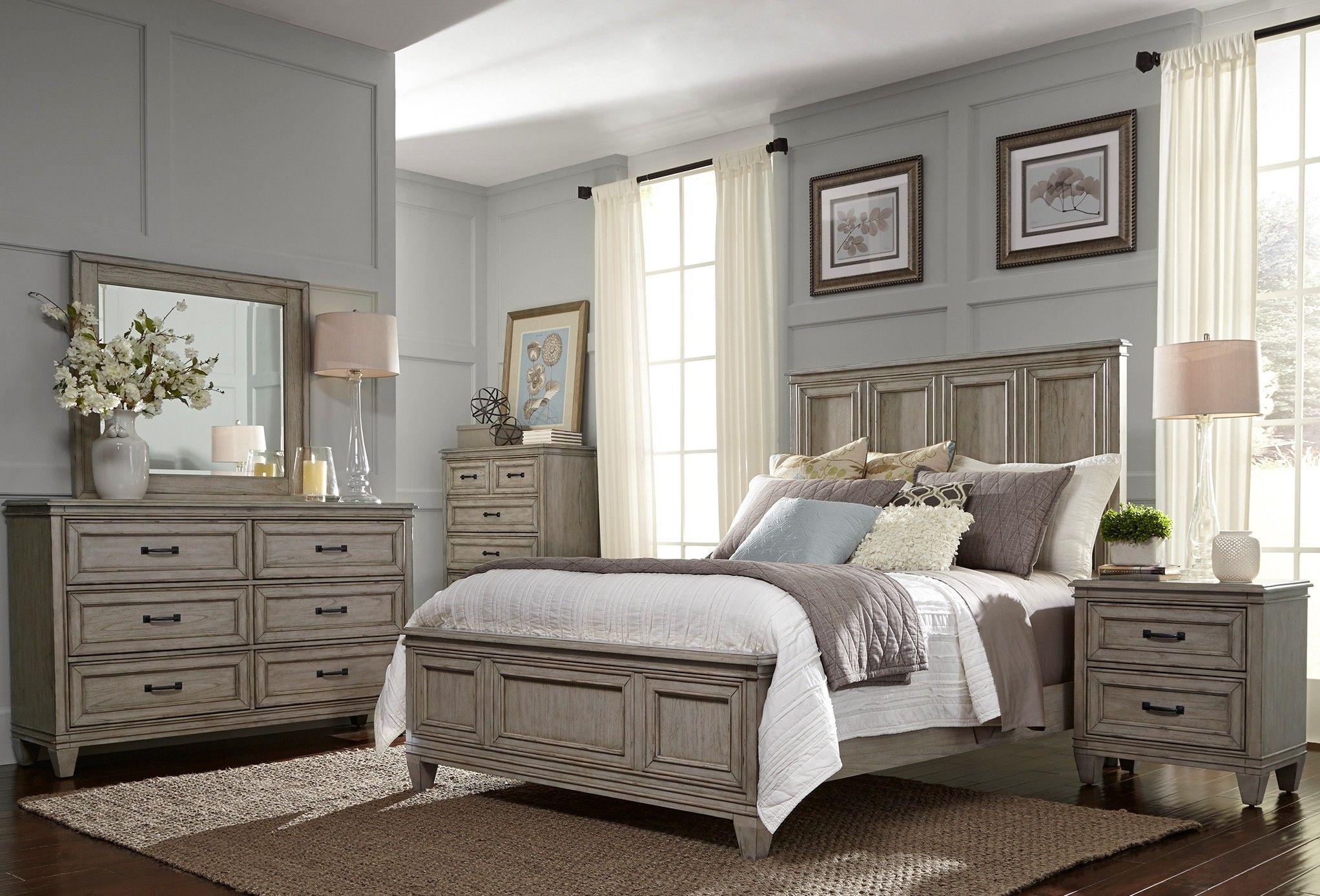 Grayton Grove Driftwood Panel Bedroom Set From Liberty Coleman