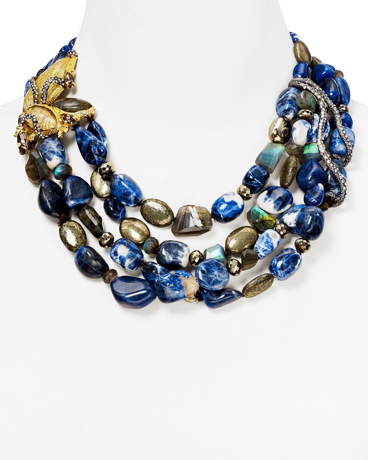 alexis crystal shop rent by for bittar the mosaic encrusted necklace pendant designers runway