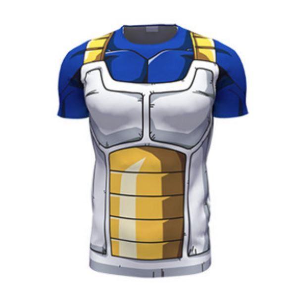 4d8bb3a112ab43 Dragon Ball Z – Vegeta Cell Saga Battle Saiyan Armor 3D T-Shirt ...