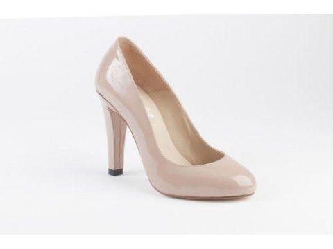 df01536a52b4 Mayfair Stiletto in Patent Nude Cream