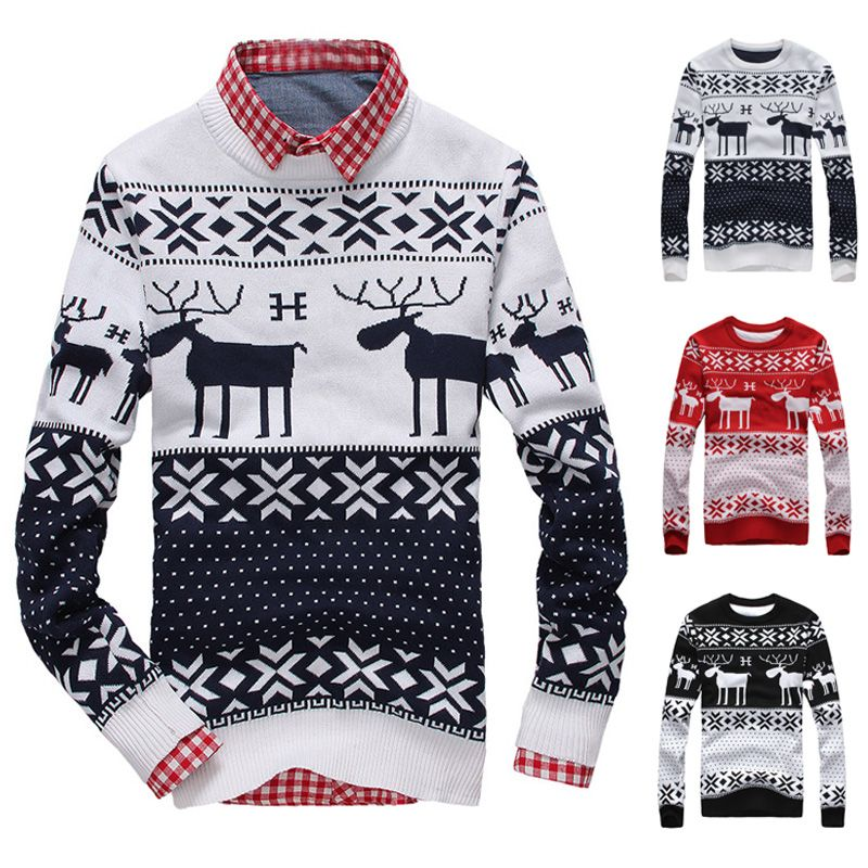 2013 Free shipping autumn winter o-neck men pullover knitted ...
