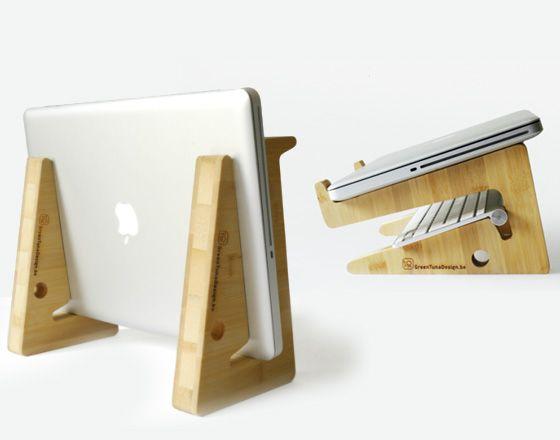 support puzzle en bambou multifonction pour macbook design object pinterest holz. Black Bedroom Furniture Sets. Home Design Ideas