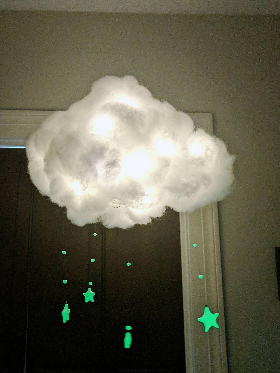 Cloud Light Hanging Fairy Lights Glow In The Dark Stars Night Sky Nursery By Kjcreations120 On
