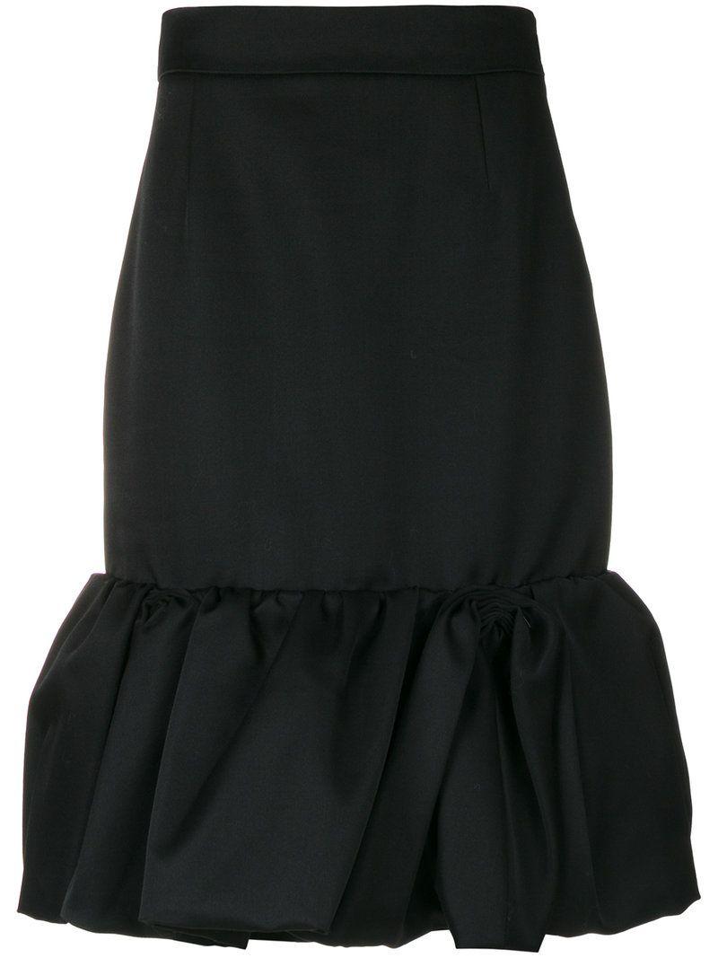 11d883a3b9b92 PRADA RUFFLED HEM MIDI SKIRT. #prada #cloth # | Prada | Skirts ...