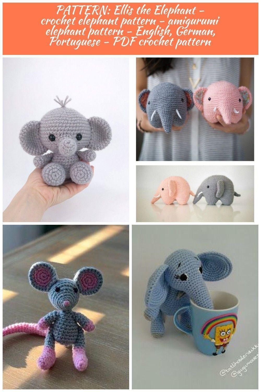 Elephant Amigurumi - Free Crochet Pattern • Craft Passion | 1500x1000