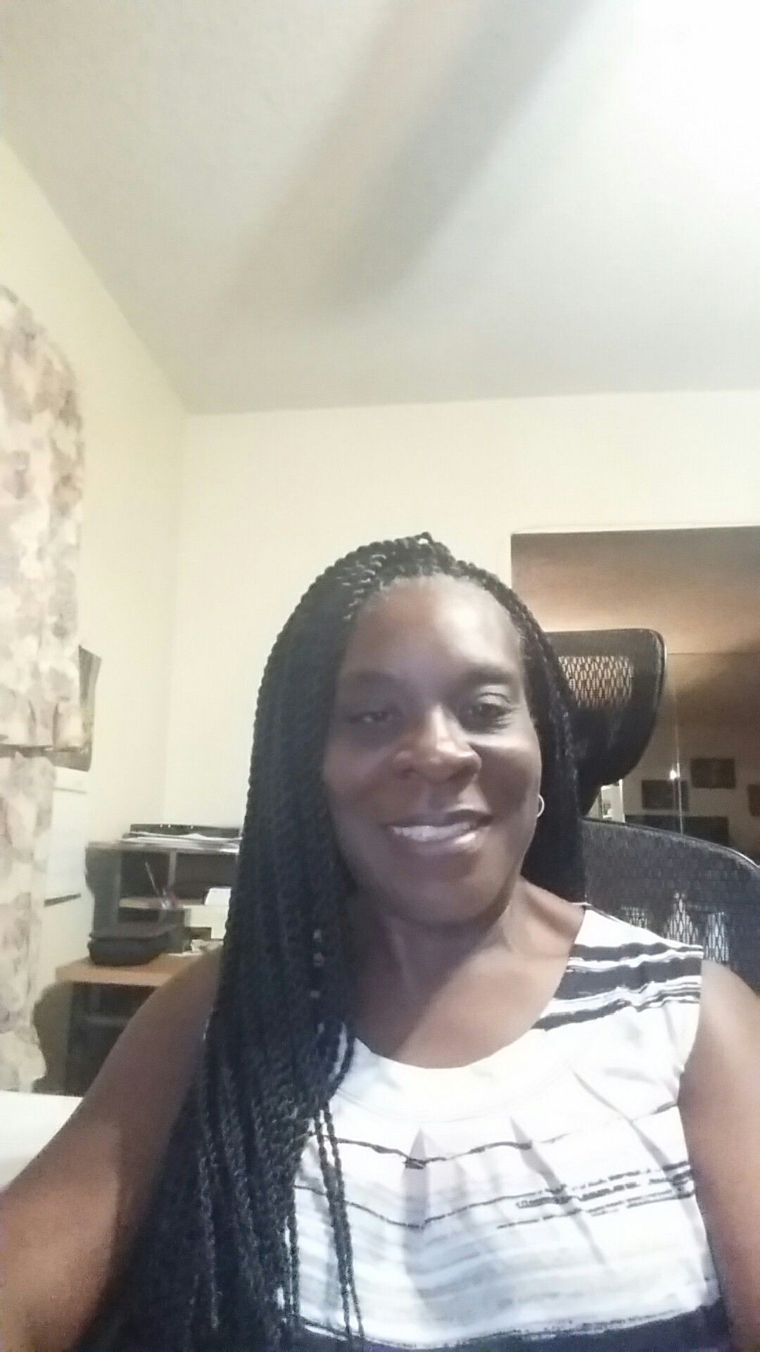 Crocheted braid hair b sengalese twists small crocheted into my