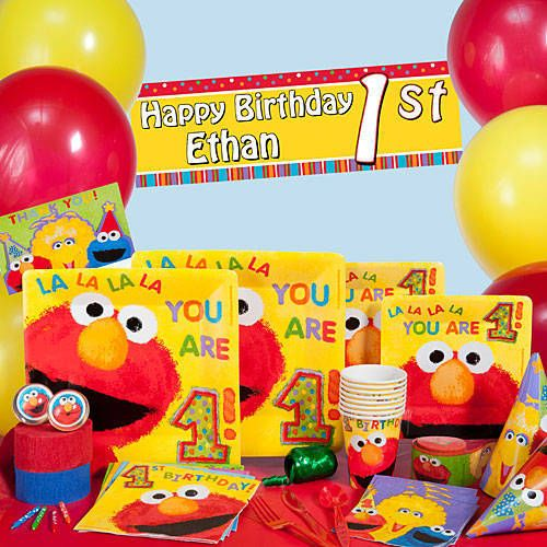 Elmos 1st Birthday Party Supplies Will Tickle Your First Guests With Its Colorful Design And Sesame Streets Lovable Furry Friend Elmo