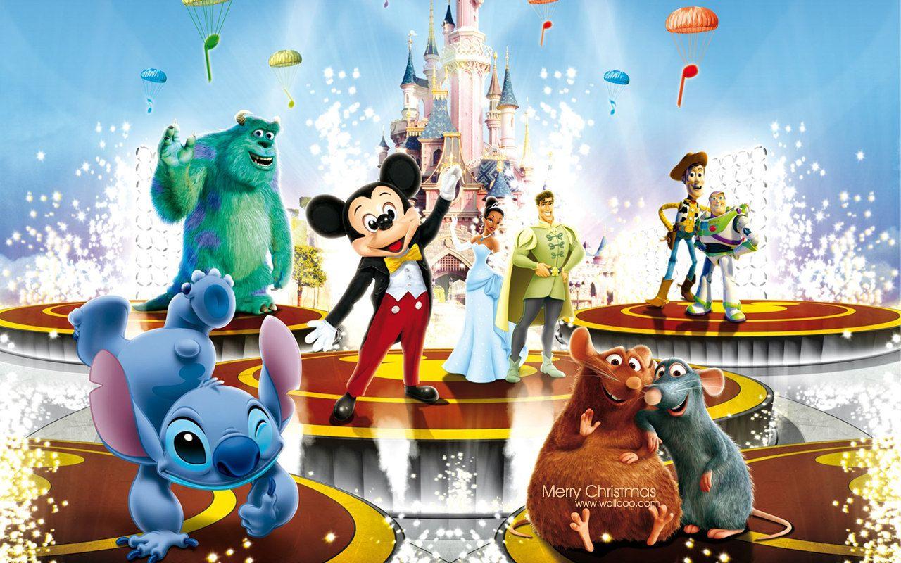 Fantastic Disney Christmas Theme Cartoon Wallpapers 1280x800 4 Jpg 1280 800