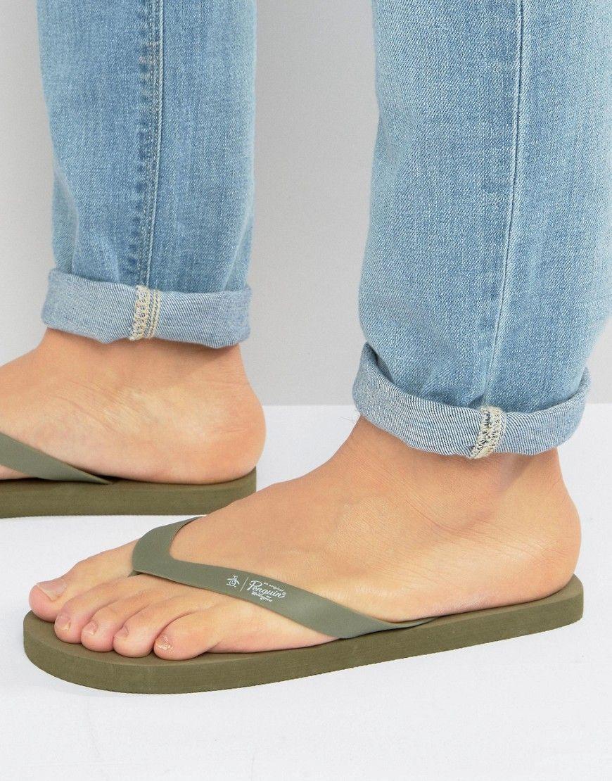 e92a516509e5 ORIGINAL PENGUIN FLIP FLOPS - GREEN.  originalpenguin  shoes