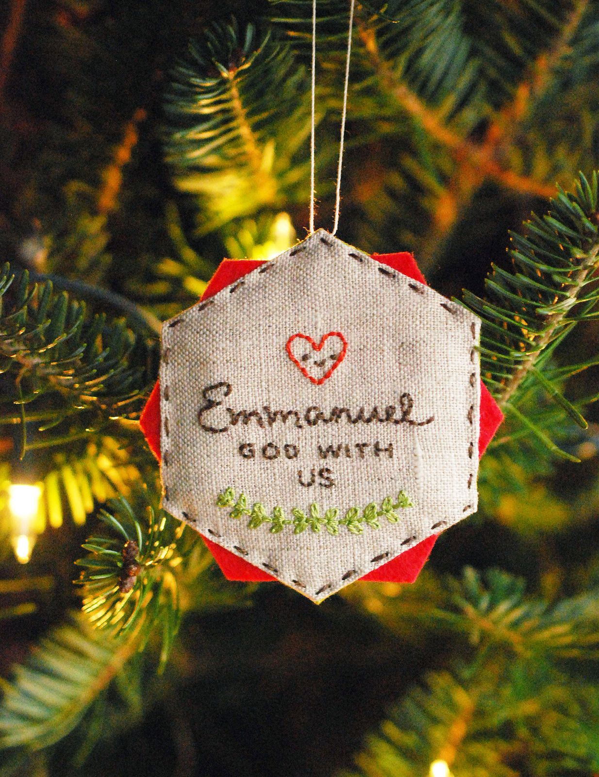 Make a christmas ornament with any embroidered epp hexagon make a christmas ornament with any embroidered epp hexagon bankloansurffo Choice Image