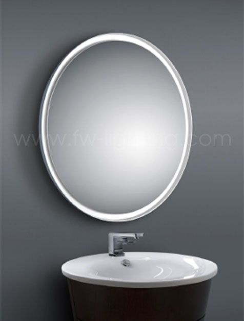 Baulmann Leuchten Round Led Mirror Warm White 3000k Led Edge Lit Creating Halo Effect Around Mirror And Oute Round Mirror Bathroom Amazing Bathrooms Mirror