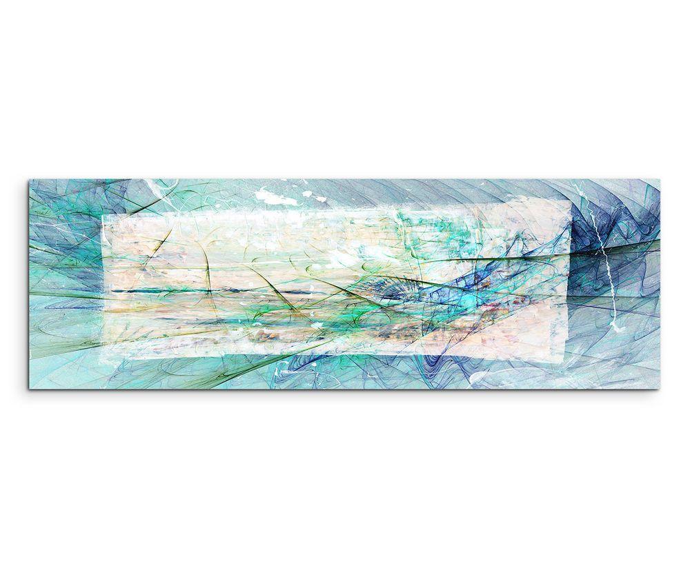 150x50cm Panoramabild Paul Sinus Art Abstrakt Blau Grün Braun Creme  Wohnzimmer | Möbel U0026 Wohnen,