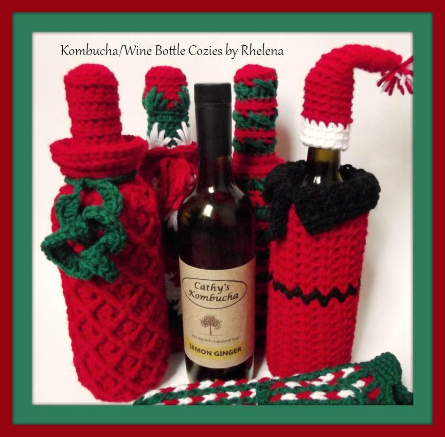 Increíble Free Crochet Wine Bottle Cover Pattern Colección - Manta ...