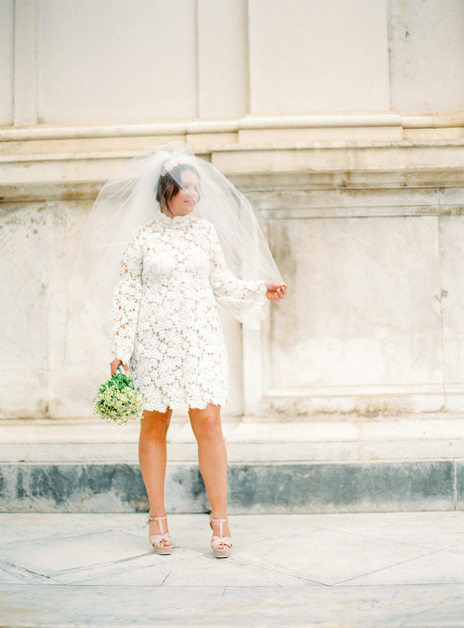 Short Lace Wedding Dress Real Brides