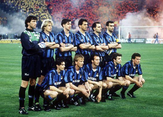 Inter With Brehme Klinsmann Matthaus Inter Mailand Lothar Matthaus Mailand