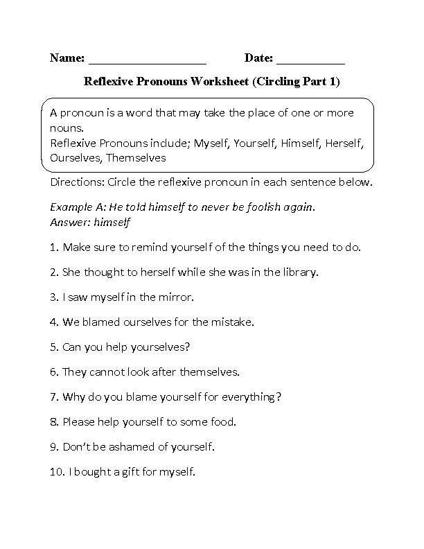 Worksheets Reflexive And Intensive Pronouns Worksheet worksheets reflexive and intensive pronouns worksheet laurenpsyk pronoun practice sixth grade great grammar possessive 1000 images