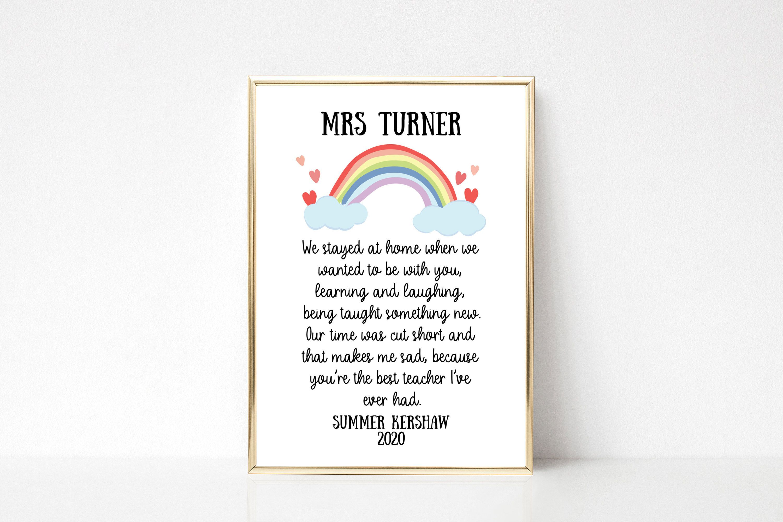 Personalised Lockdown Teacher Print Teacher Gift Teacher Etsy In 2020 Thank You Teacher Gifts Teacher Gifts Teacher Thank You