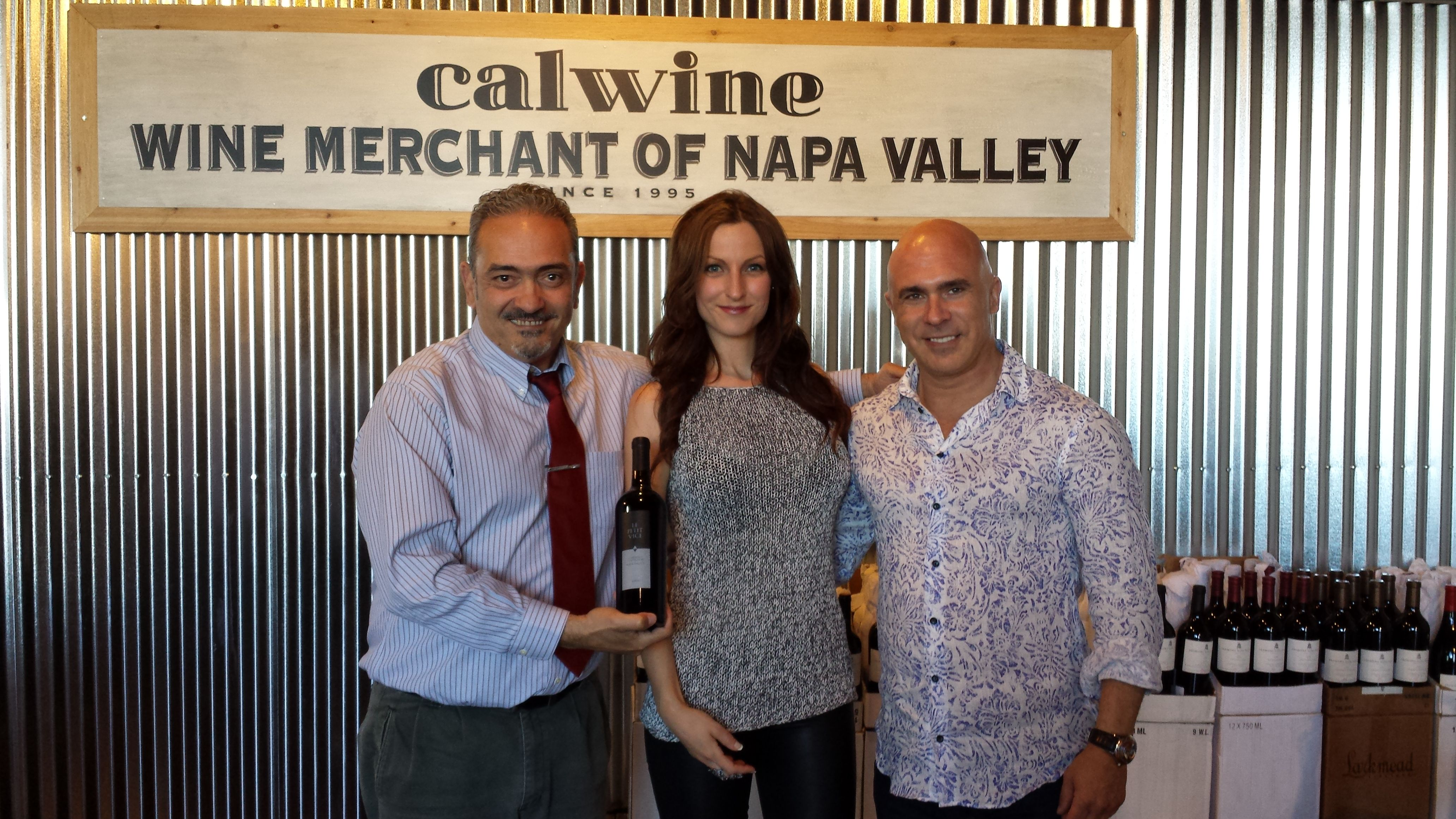 Al with Patrice and Samantha Breton of Vice Versa Wines.