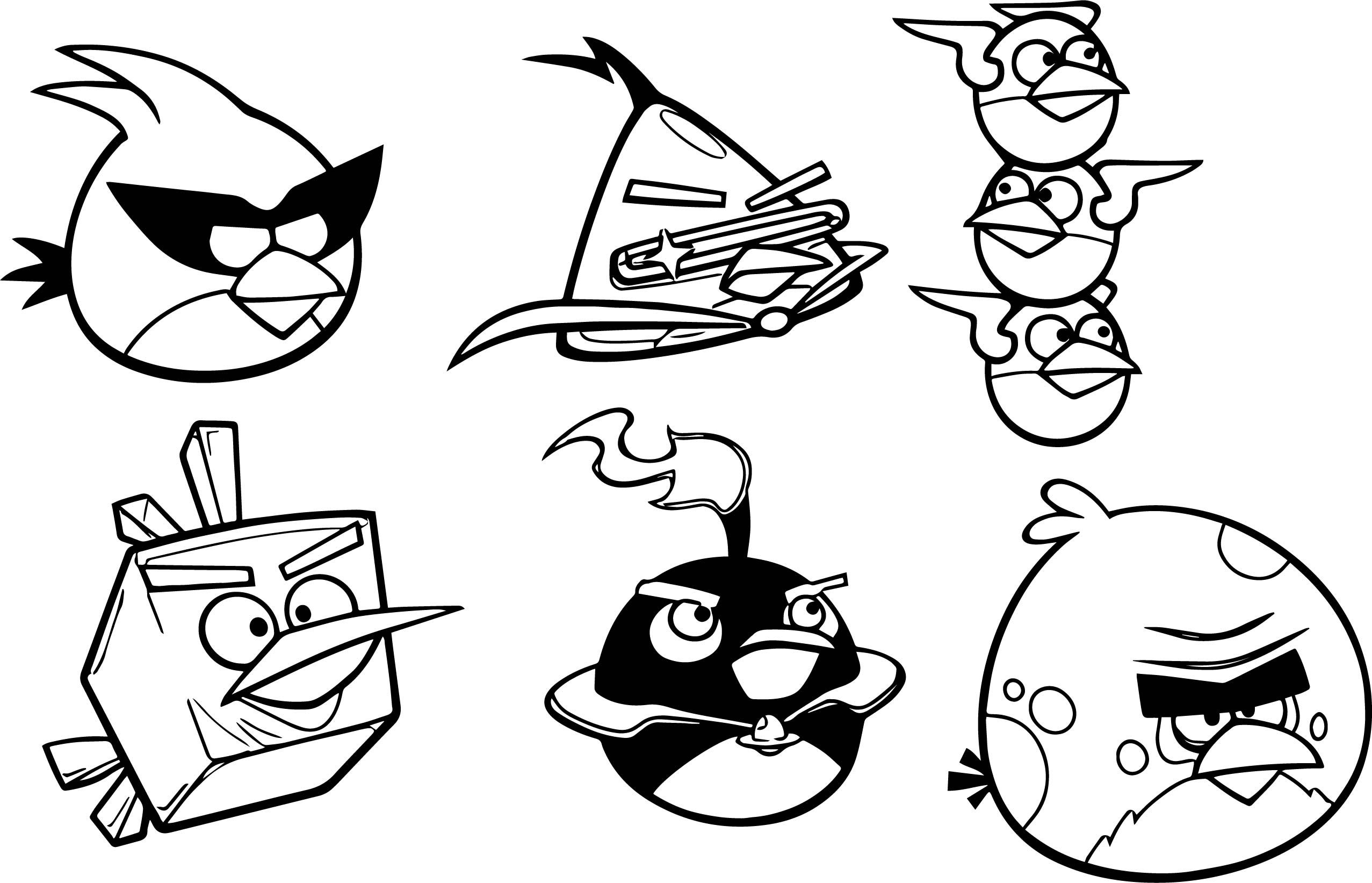 Nice Vector Angry Bird Space Coloring Page