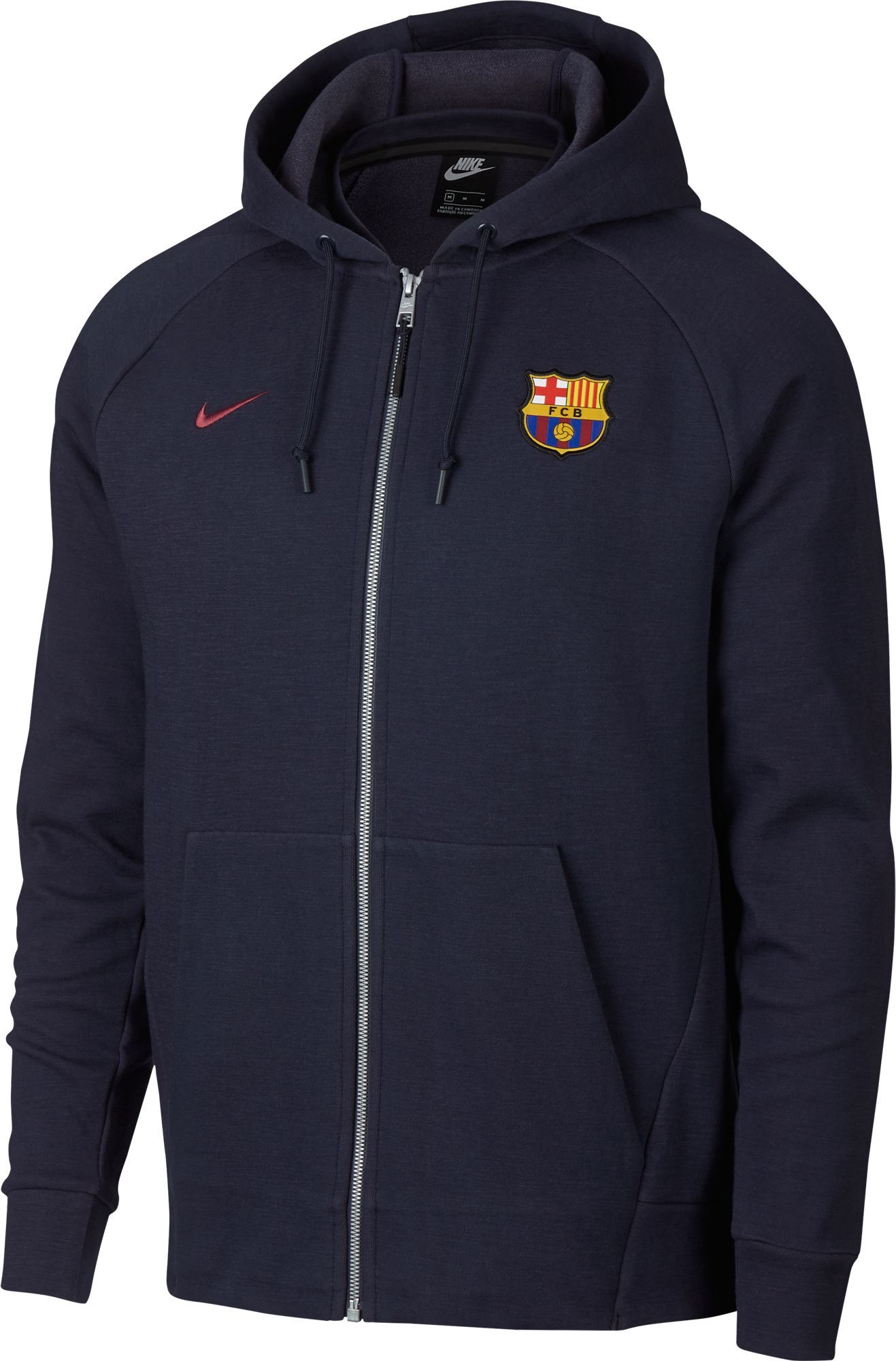 005429b36607 Nike Men s FC Barcelona Navy Full-Zip Hoodie