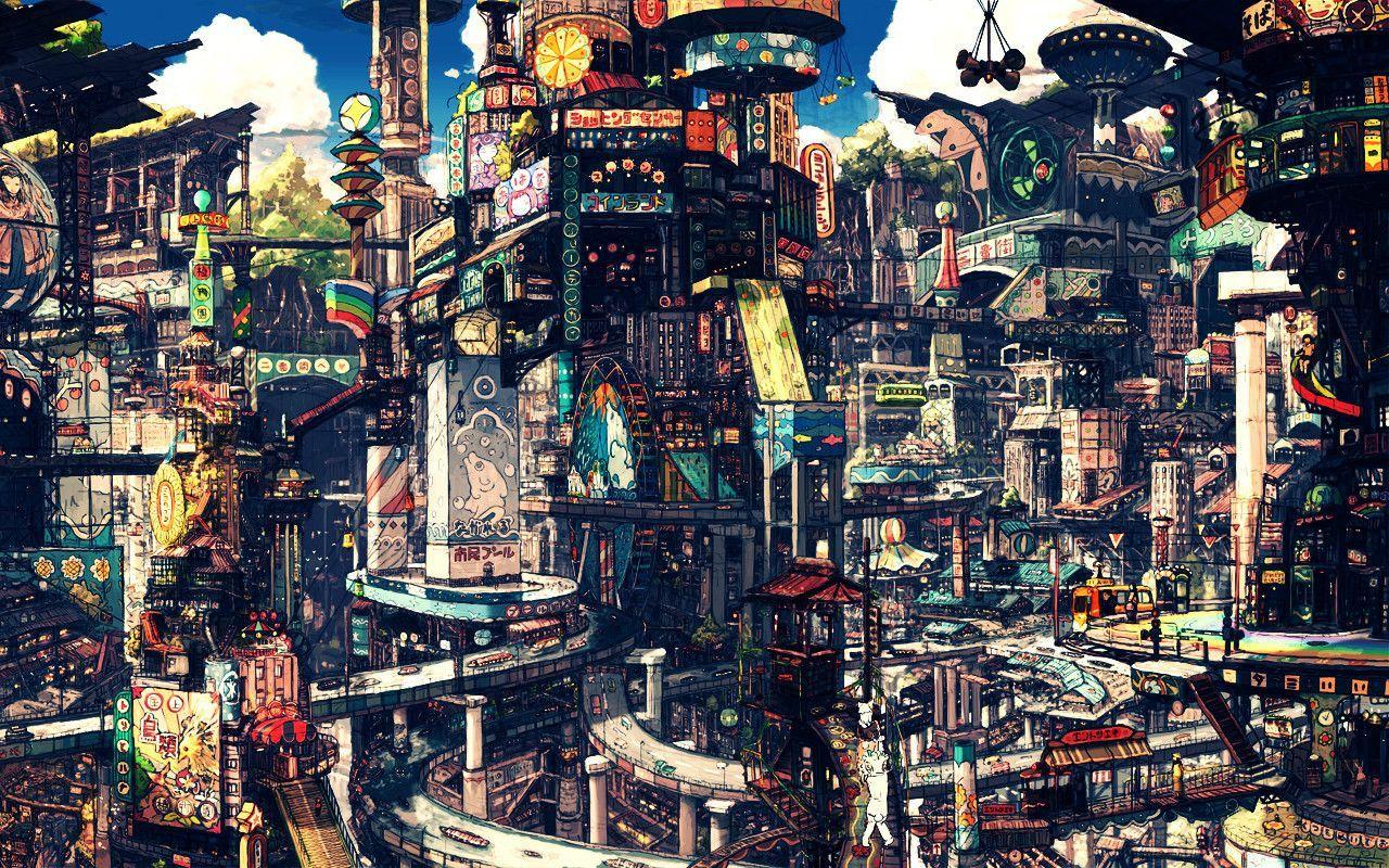 Imgur Anime Scenery Anime City City Art