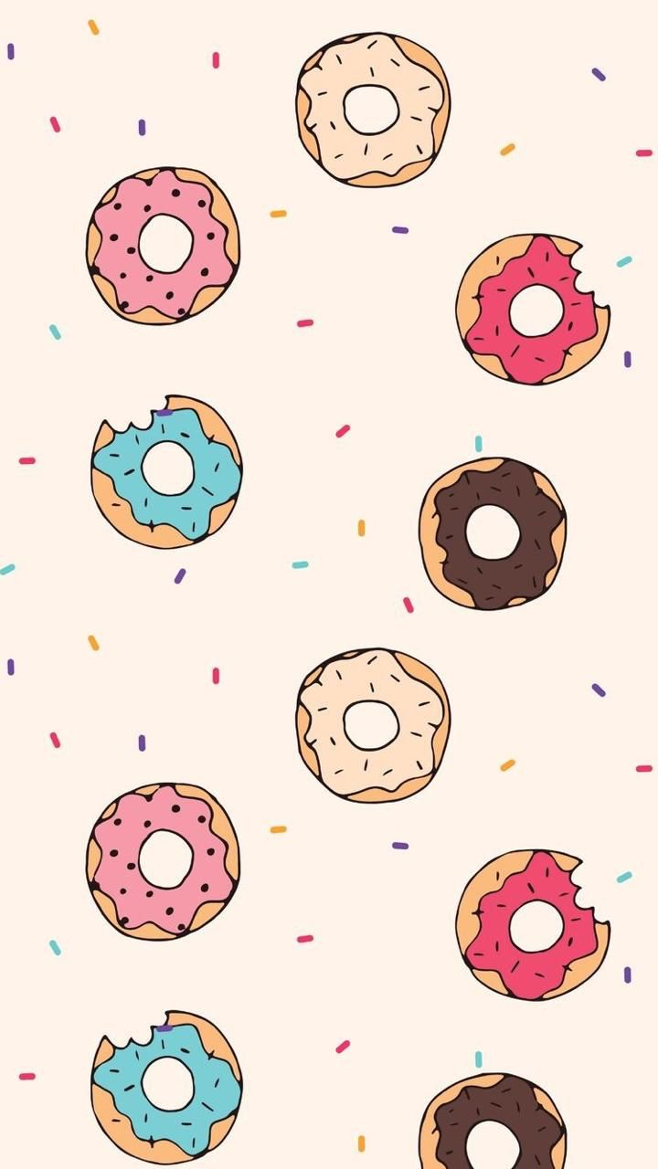 Coffee Donuts Wallpapers Iphone Android Wallpaper Iphone Cute Kawaii Wallpaper Pastel Wallpaper