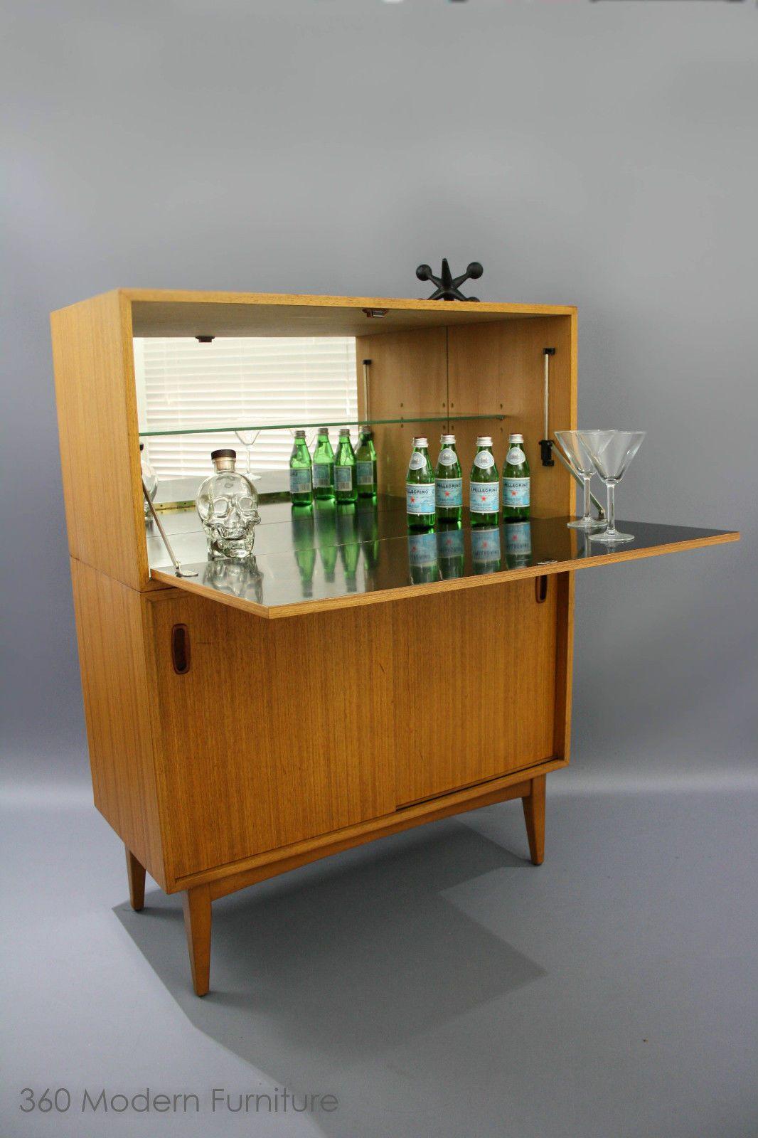 Mid century cocktail bar cabinet vintage retro table console sideboard danish in narre warren vic ebay 360 modern furniture