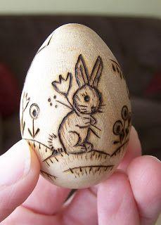❤️Bunnies ~ Fun with Wood eggs!