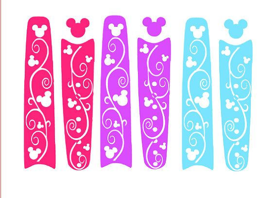 Disney Magic Band Swirl Cover Magic Band By VictoriasMonograms - Magic band vinyl decals
