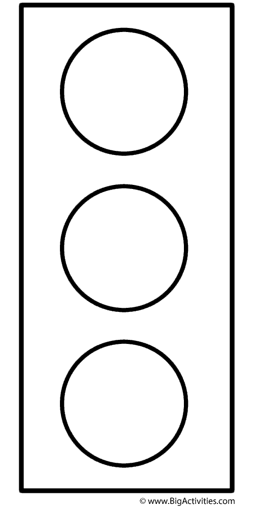 Traffic Light - Coloring Page (Safety) (With images ...