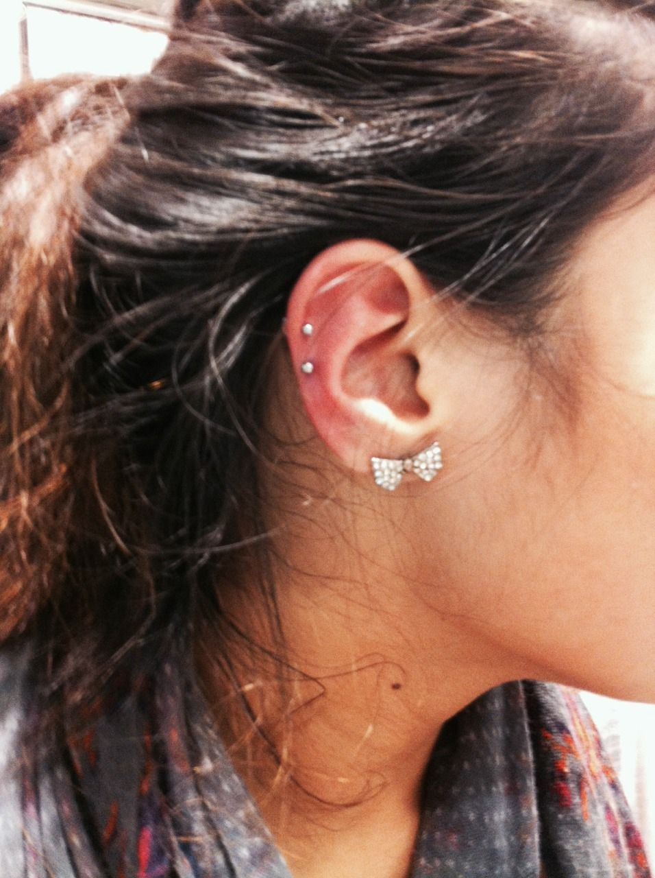 Names for cartilage piercing  Double cartilage piercing studs  Summer wardrobe  Pinterest