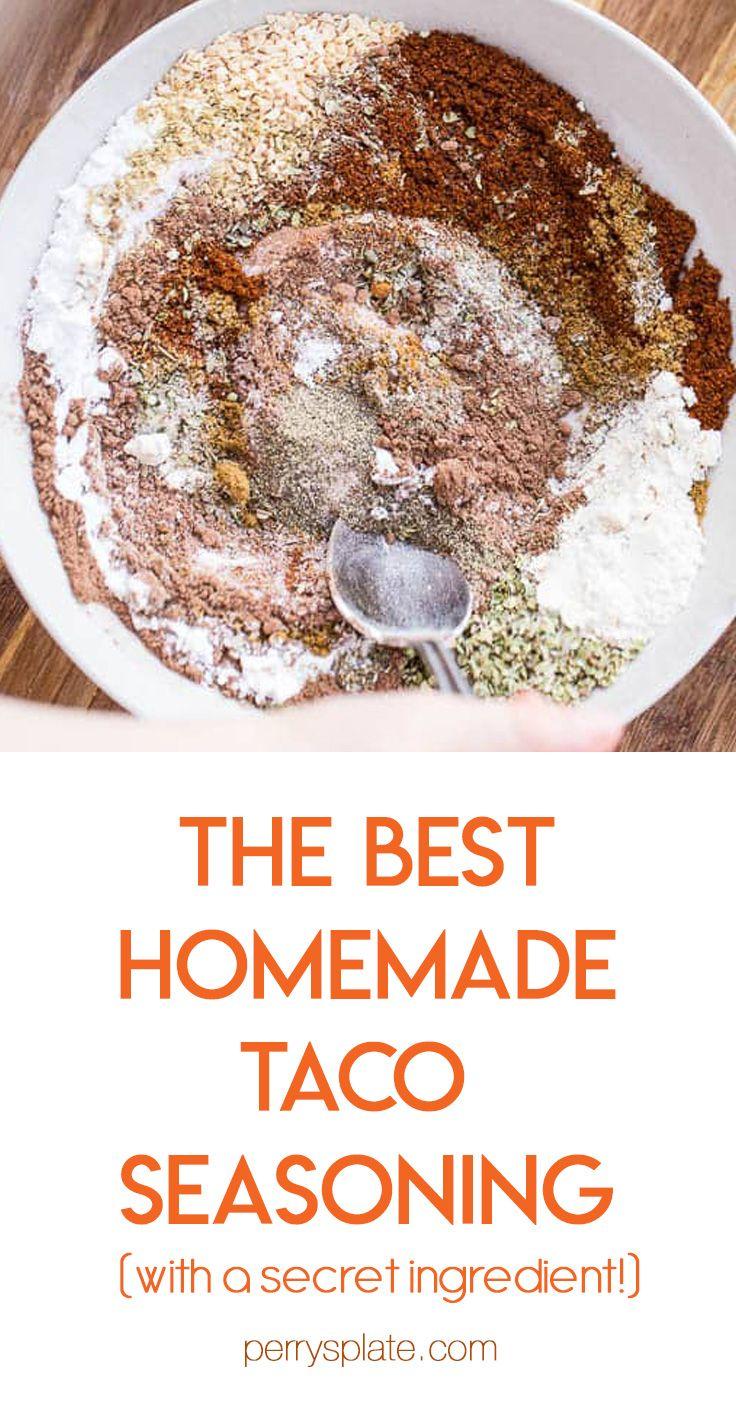 EASY Homemade Taco Seasoning in 2020 Homemade taco