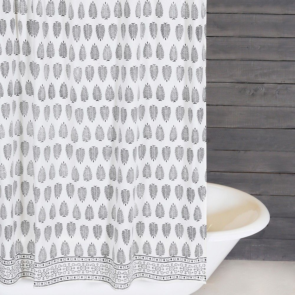 The Kiara Shower Curtain From Pom Pom At Home Presents A