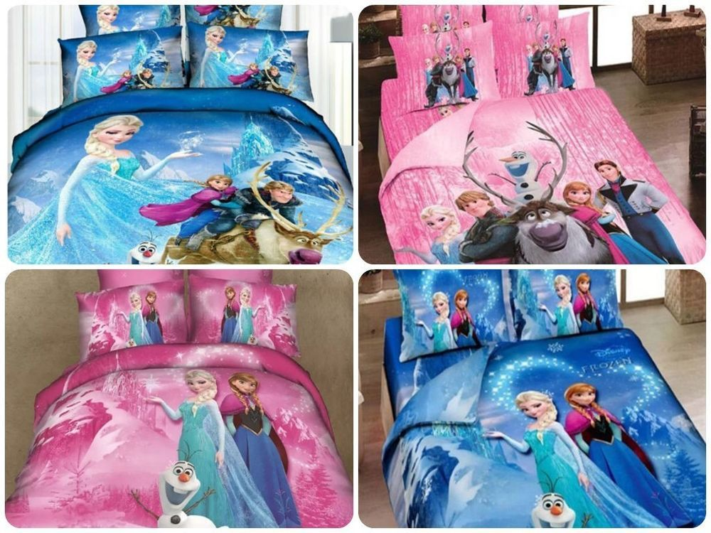 Disney Movie Frozen Elsa Anna Twin Full 100 Cotton Quilt Duvet Cover Bed Set Frozen Bedroom Quilted Duvet Cover Bed Linens Luxury