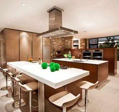 Open Modular Kitchen Design With Dining Table Kitchen Design